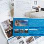 (株)ネットマイスター バケーションレンタル事業部「ボーリバージュ」A4三つ折りパンフレット   紙:マットコート135kg  オフセット印刷   Art Director/Graphic designer:有本彩子  Copywriter:那須信子