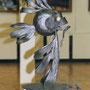 """Кованая скульптура"""" Рыба луна"""" 1 вариант.Автор Алисов И."""