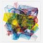 Brush #2, 39 x 37 x 2 cm, Kunstharzlack auf eVa-folien, gefaltet, verschmolzen, acrylglasträger, 2011