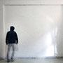 Wandmalerei / Telekinese 2014 Öl auf Leinwand (40 Einzelbilder) | Holzgerüst | Foto | 290 x 320 cm  Ich portraitiere meine Atelierwand im Maßstab 1:1.