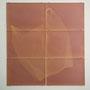"""Aus der serie fotogenic Drawings, """"tüte 1"""", 6 teilig, je 21 x 29,7 cm, Ausstellungsansicht, tag 1, 2012"""
