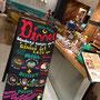 2015 ハンズカフェ福岡パルコ店のディナー看板 店頭