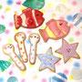 2015 ハンズカフェ福岡パルコ店 ワークショップ:アイシングクッキー 海のいきものデザイン(クマノミ・チンアナゴ・ヒトデ)