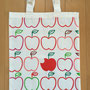 トートバッグのサンプル:りんご柄