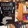 2015- ハンズカフェ福岡パルコ店への誘導看板:於)ハンズビー