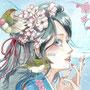 春(メジロと桜)