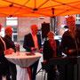 v.l.: Martin Sölle, Matthias Bonhoeffer, Christoph Rollbühler, Bärbel Wartenberg-Potter, Andreas Hupke / © Angelika Wuttke