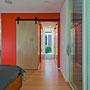 Fredrickson Nagle House: Sliding panel doors are silent space savers.
