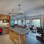 Owens-Pike Net Zero Energy Home: Great views outside from the kitchen.