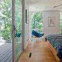Fredrickson Nagle House: Reclaimed douglas fir flooring, new low-e fiberglass triple glazed windows.