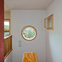 Owens-Pike Net Zero Energy Home: A little view outside as one uses the stairs.