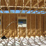 Owens-Pike Net Zero Energy Home: Minimizing material use through advanced framing techniques and alignment.