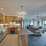 Owens-Pike Net Zero Energy Home:  Kitchen cabinetry built locally by an Amish craftsman using local, sustainably harvested wood. Delivered to the door by his team of horses.