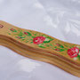 Jewish mezuzah Case,   Flowers  in One Stroke style.  Sold!