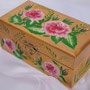 Jewellery Box,  Flowers  in One Stroke style.