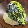Hockey Maske (Stickerbomb) mit Airbrush