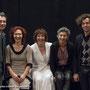 Laurent Meunier, Hélène Massé, Laurence Barrault, Béatrice Ferron et Dan Panama