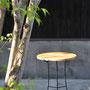 K様 テーブル 鉄、黒マット塗装 天板(ナラ)は別作家による制作 2013