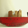 Rode boot 105x45x7cm