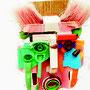 Masker roze bezem 125x30cm