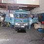 unser bus in der werkstatt