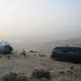 schlafplatz auf dem berg nebu. leider haben wir nichts von der aussicht auf das gelobte land. moses hatte bestimmt besseres wetter:-)
