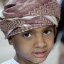 kleiner junge am muscat festival