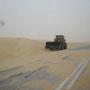 strassen werden vom sand befreit