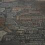 ein teil der riesigen mosaik karte in der st.georg kirche in madaba. das ovale stellt jerusalem dar mit der grossen hauptstrassse mitten durch die stadt