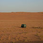 auch mit dem hanomag finden wir einen platz in der wüste