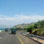 unterwegs nach tiberias, dem hauptort am see