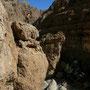 steile klippen im wadi