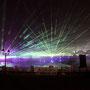 laser-und feuer show am kulturfestival in muscat