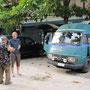 9_georgetown, auf dem parkplatz von crystal guesthouse
