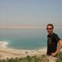 oberhalb des toten meers. leider keine weissen sandstrände, sondern weisse salzstrände
