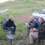 überraschung, markus und seine jrma bei einem blitzbesuch in unserem camp auf dem berg shifon
