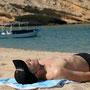 erholung nach einem harten tag am strand von qantab