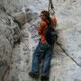 zum glück sind teilweise kletterketten installiert