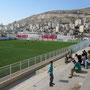 die spiele der höchsten palästinänsischen fussball liga haben tiefes niveau