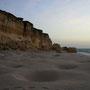 der strand sieht aus wie eine mondlandschaft. in jeder vertiefung hat es hunderte eier