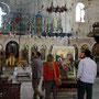 besuch der kirche, die über dem jakobsbrunnen erbaut wurde