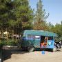 camping ittic nach esfahan, iran