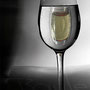A glass))