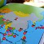 この本で一番時間をかけた世界地図(笑)