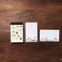 12種類の多肉植物 ミニメモ帳