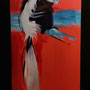 'Angolan Black and White Colobus', 16x27, Cheryl Steiger, Oil on canvas