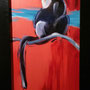 'Debrazzas Monkey', 16x27, Cheryl Steiger, Oil on canvas