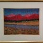 'Mountains Aglow', Lee Mandel, 34x28, Pastel