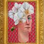'Rebel', 12x14, Teresa Hofheimer, Hermès ties, acrylic