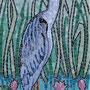 le heron en mosaïque, fini
